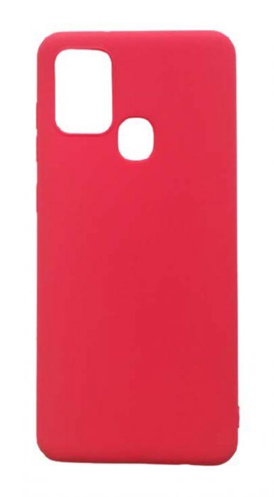 Чехол - накладка для Samsung A21s силикон Red