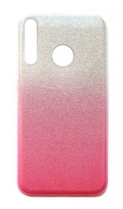 Чехол - накладка для Honor 9C / Huawei P40 Lite E силикон Gradient Tinsels Pink