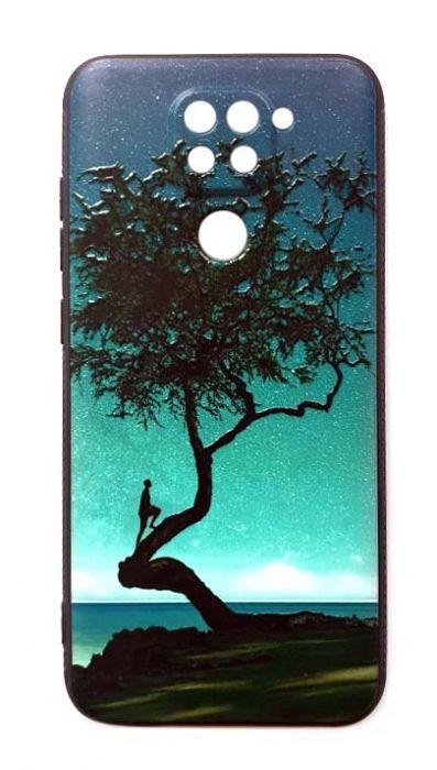 Чехол - накладка для Xiaomi Redmi Note 9 силикон Man in the tree