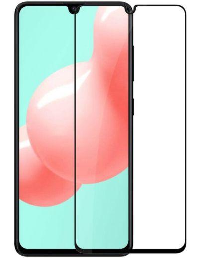 Защитное стекло для Samsung A41, на весь экран, черная рамка