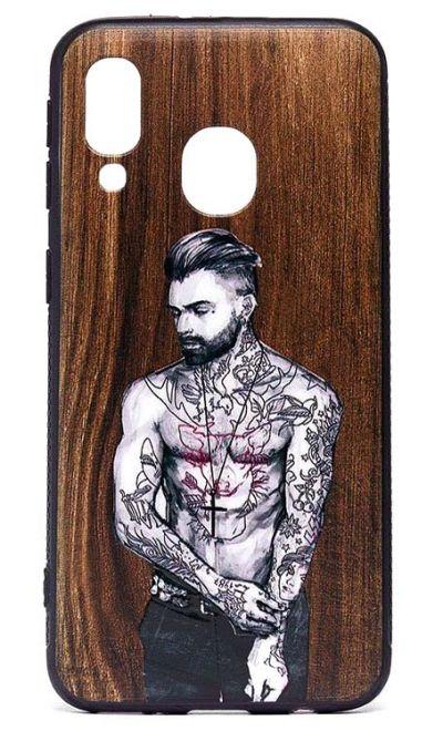 Чехол - накладка для Samsung A40 силикон The Guy with the tattoos
