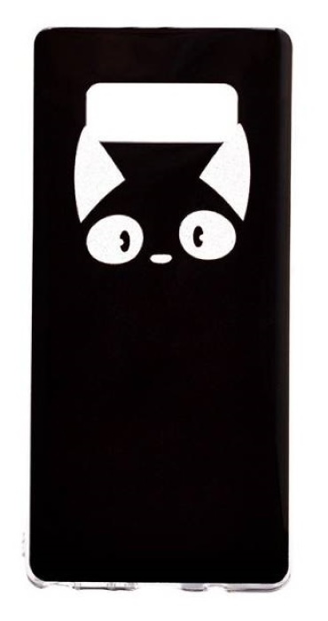 Чехол - накладка для Samsung Note 8 силикон The Cat is looking