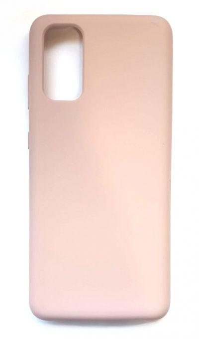 Чехол - накладка для Samsung S20 Silicone Cover Pink