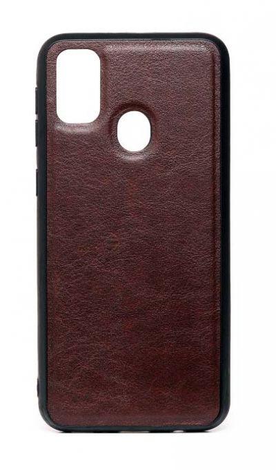 Чехол - накладка для Samsung M31 силикон Leatherette Brown