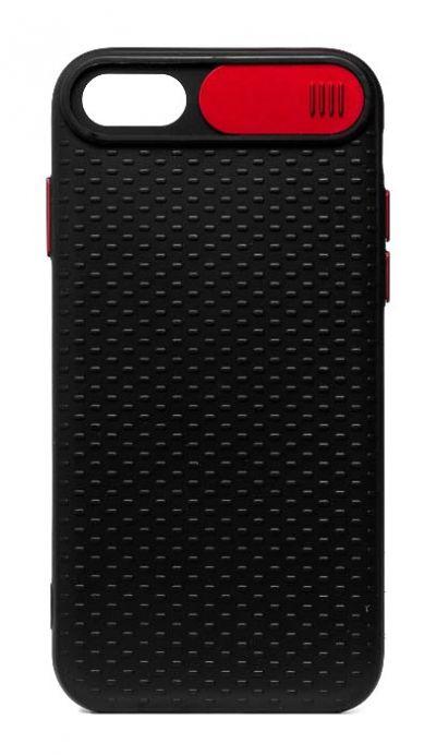 Чехол - накладка для iPhone 6 / 6S силикон Camera Protection Red