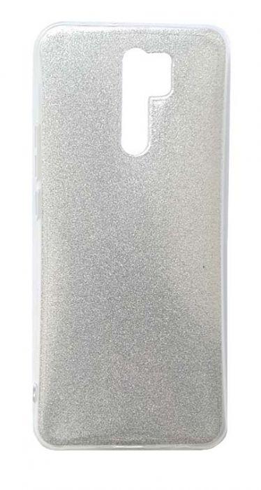 Чехол - накладка для Xiaomi Redmi 9 силикон Glamour Silver