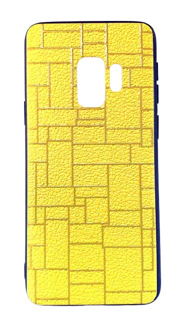 Чехол - накладка для Samsung S9 Plus пластик Brick Yellow