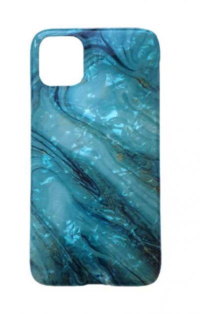 Чехол - накладка для iPhone 11 Pro силикон ST Marble Blue №4