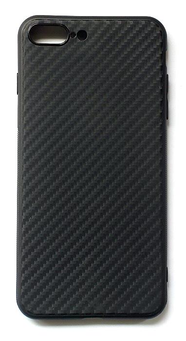 Чехол - накладка для iPhone 7 / 8 Plus силикон Carbon Black