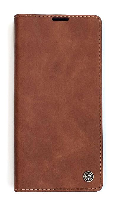 Чехол - книжка для iPhone X / XS Max полиуретан CaseMe Brown