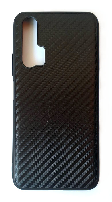 Чехол - накладка для Honor 20 силикон Carbon Black