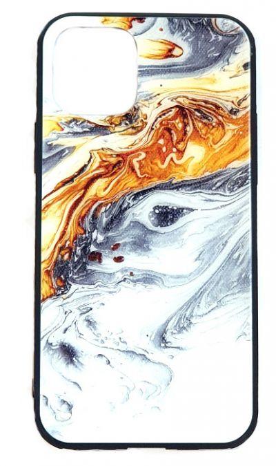 Чехол - накладка для iPhone 11 силикон Border printing Brown