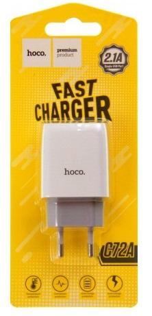 Сетевое зарядное устройство - HOCO C72A 1хUSB / 5В / 2.1A (white)