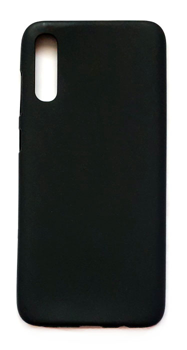 Чехол - накладка для Samsung A70 силикон Black