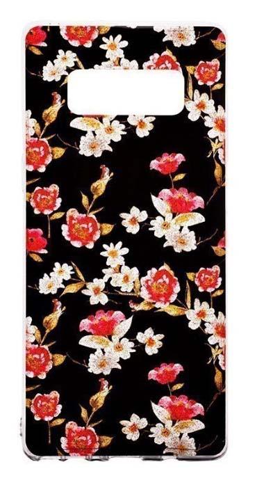 Чехол - накладка для Samsung Note 8 силикон Carnations