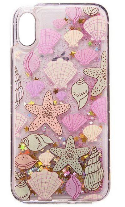 Чехол - накладка для iPhone X / XS силикон Seashell