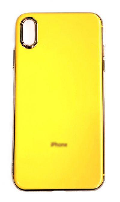 Чехол - накладка для iPhone X / XS Max силикон Fashion Yellow