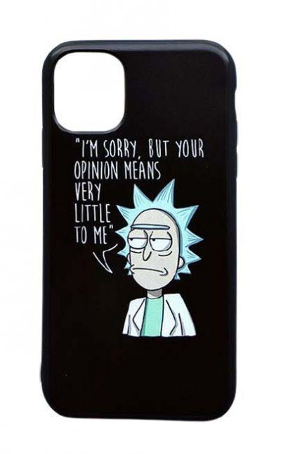Чехол - накладка для iPhone 12 / 12 Pro силикон Rick and Morty, Rick say