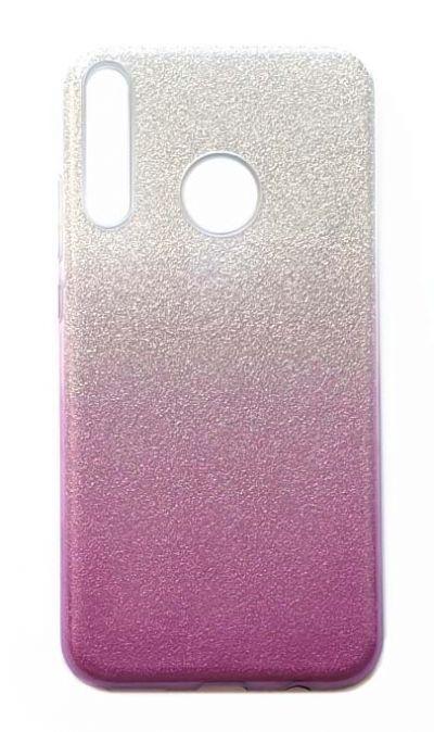 Чехол - накладка для Honor 9C / Huawei P40 Lite E силикон Gradient Tinsels Purple