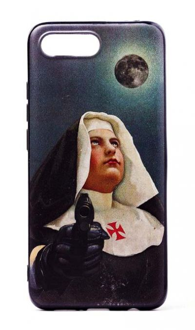 Чехол - накладка для Honor 10 силикон Nun with Guns №2
