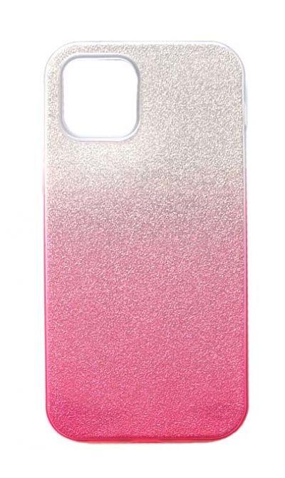 Чехол - накладка для iPhone 12 / 12 Pro силикон Gradient Tinsel Pink