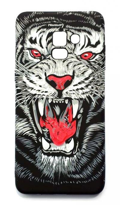 Чехол - накладка для Samsung A8 Plus (2018) Luxo Creative Tiger Red