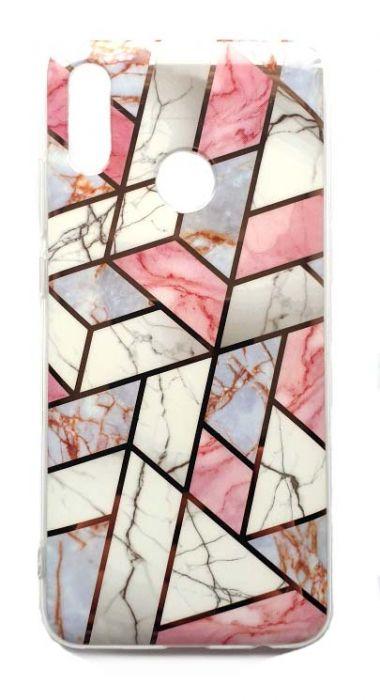 Чехол - накладка для Honor 10 Lite силикон Marble White