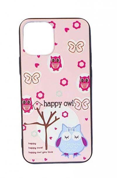 Чехол - накладка для iPhone 12 Pro Max силикон Happy Owl