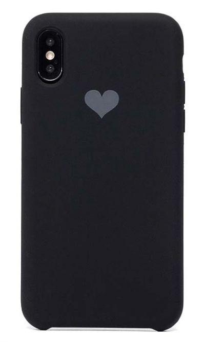 Чехол - накладка для iPhone X / XS силикон Soft Touch Love Black
