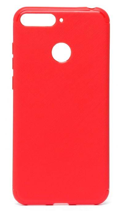 Чехол - накладка для Honor 7A Pro / 7C силикон Red