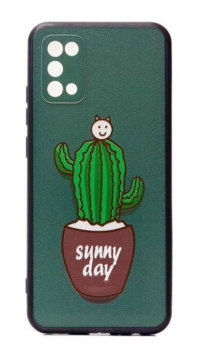Чехол - накладка для Samsung A02s силикон Cactus Sunny day