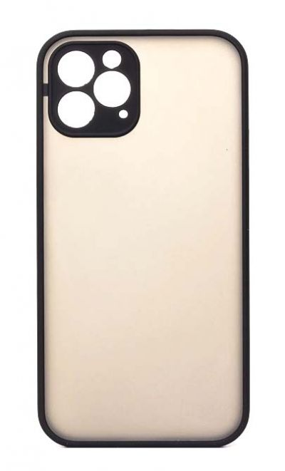 Чехол - накладка для iPhone 12 mini пластик Matt TPU Black