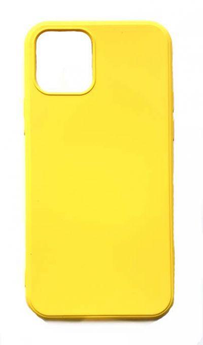 Чехол - накладка для iPhone 12 / 12 Pro силикон Yellow org
