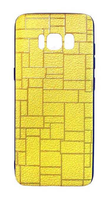 Чехол - накладка для Samsung S8 Plus пластик Brick Yellow