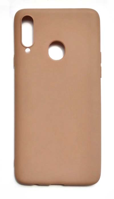 Чехол - накладка для Samsung A20s силикон Brown