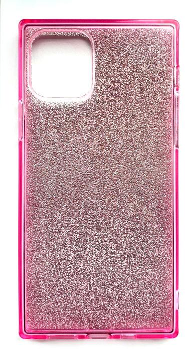 Чехол - накладка для iPhone 11 Pro Max силикон Вставка Розовые блестки