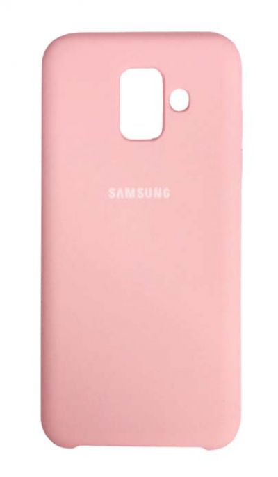 Чехол - накладка для Samsung A6 Plus (2018) Silicone Cover Pink