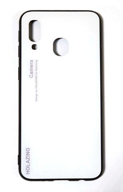 Чехол - накладка для Samsung A40 силикон Protective Glass White