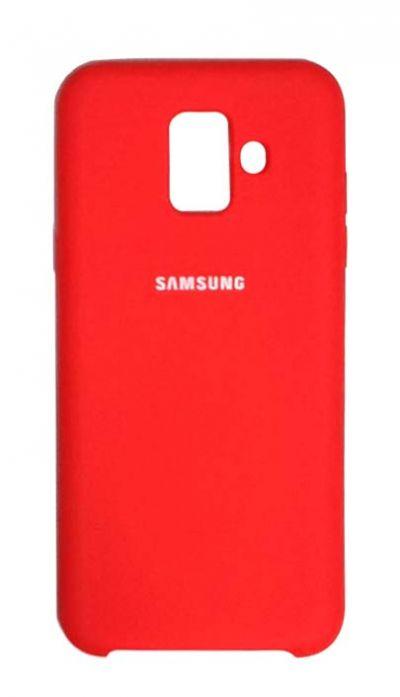 Чехол - накладка для Samsung A6 Plus (2018) Silicone Cover Red