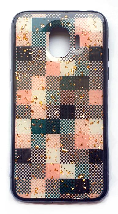 Чехол - накладка для Samsung J2 (2018) силикон Cubes