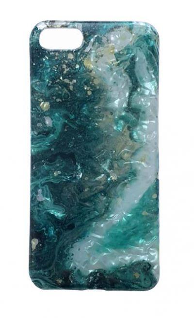 Чехол - накладка для iPhone 6 / 6S Plus силикон ST Marble Blue