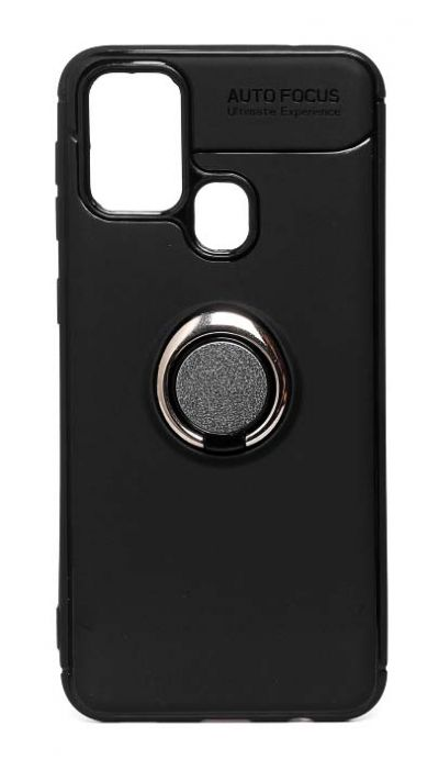 Чехол - накладка для Samsung A21s силикон Ring - Holder Black