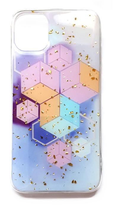 Чехол - накладка для iPhone 11 силикон Sparkles Abstract №2