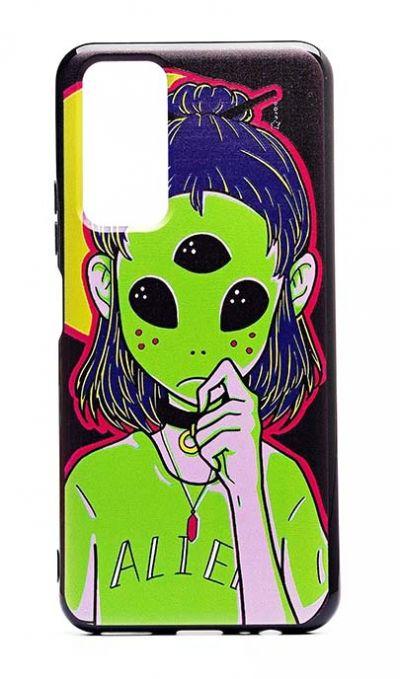 Чехол - накладка для Honor 10X Lite силикон Alien Girl