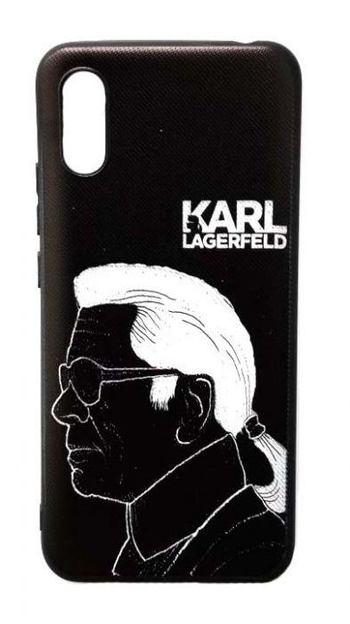Чехол - накладка для Xiaomi Redmi 9A силикон Karl Lagerfeld