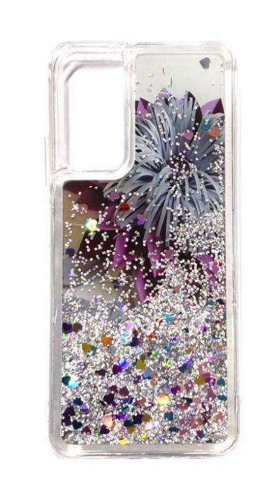 Чехол - накладка для Honor 10X Lite / Huawei P Smart 2021 силикон Transfusion Grey Flower