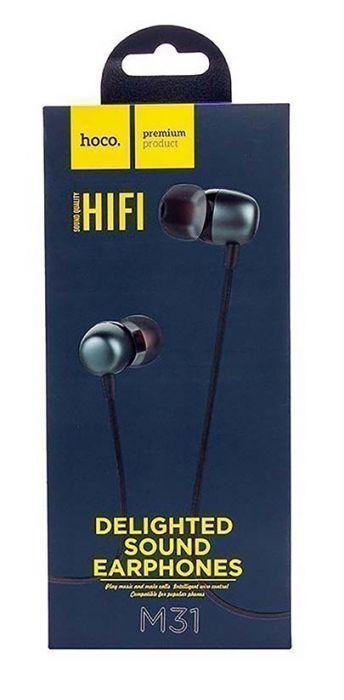 Проводные наушники с микрофоном Hoco M31 Delighted sound universal, черный