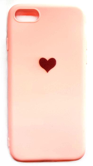 Чехол - накладка для iPhone 7 / 8 / SE 2020 силикон Pink Heart