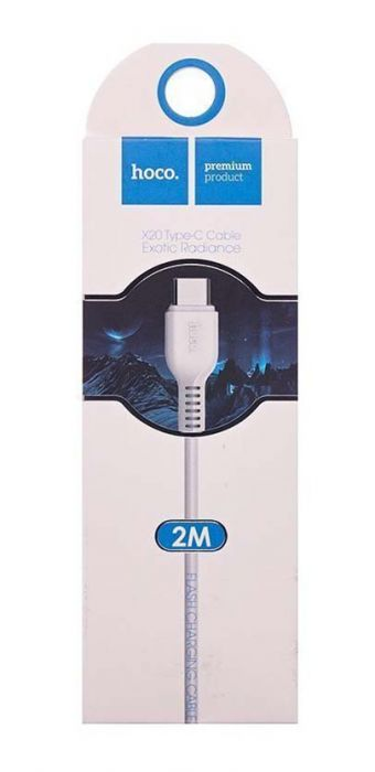 Кабель USB Type-C - USB HOCO X20 Exotic Radiance белый 2м