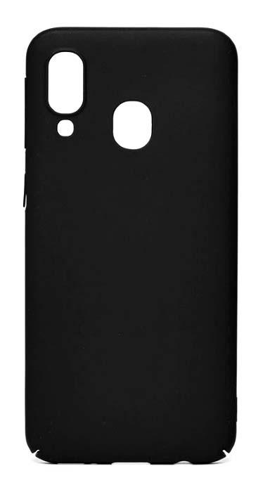 Чехол - накладка для Samsung A40 пластик Black